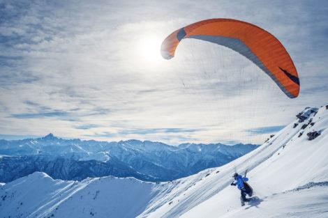 Winterurlaub & Skiurlaub am Obersulzberggut in Radstadt, Salzburger Land - Paragleiten im Ski amadé