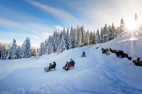 Winterurlaub & Skiurlaub am Obersulzberggut in Radstadt, Salzburger Land - Rodeln im Ski amadé